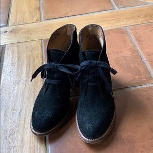 Biala black suede booties